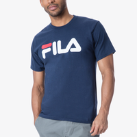 Fila Logo T-Shirt - Men's - Navy / White