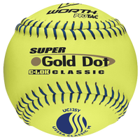 Worth Super Gold Dot Pro Tac Softballs - Men's - Yellow / Blue