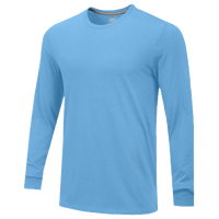 Nike Team Core L/S T-Shirt - Men's - Light Blue / Light Blue