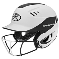 Rawlings Velo Fastpitch Bat Helmet w/Facemask - Women's - White / Black