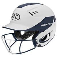 Rawlings Velo Fastpitch Bat Helmet w/Facemask - Women's - White / Navy