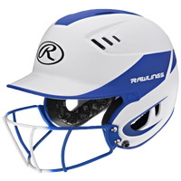 Rawlings Velo Fastpitch Bat Helmet w/Facemask - Women's - White / Blue