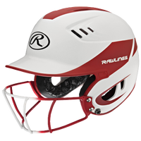 Rawlings Velo Fastpitch Bat Helmet w/Facemask - Women's - White / Red