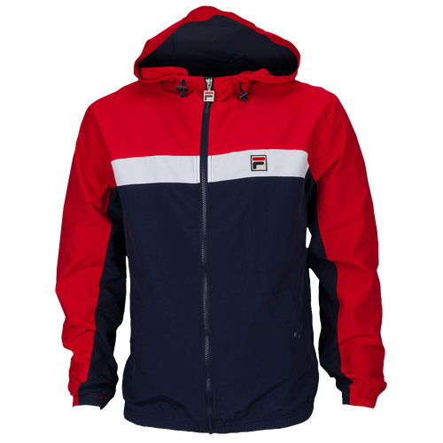 Fila Clipper Wind Jacket - Men's Casual - Chinese Red/Navy/White 16322
