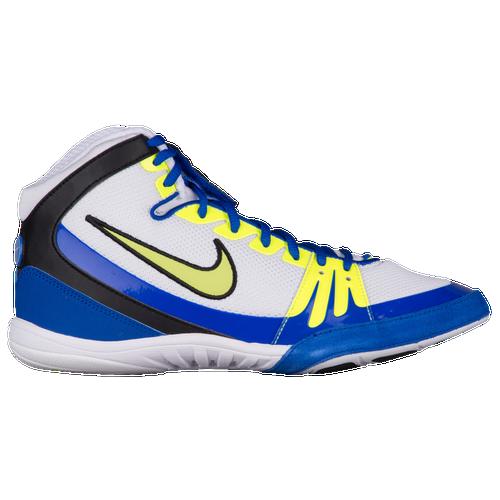 Nike Freek - Men's - Wrestling - Shoes - White/Racer Blue/Volt
