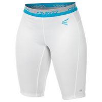 Easton Mako Compression Shorts - Women's - White / Light Blue