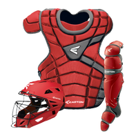 Easton M10 Intermediate Catcher's Set - Grade School - Red / Silver