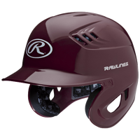 Rawlings Coolflo R16 Batting Helmet - Men's - Maroon / White
