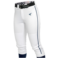Easton Mako Piped Softball Pants - Women's - White / Navy