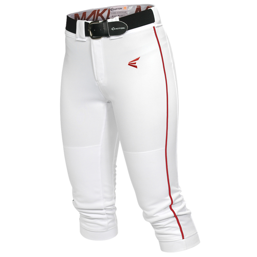 Easton Mako Piped Softball Pants - Women's Softball - White/Red 1671022