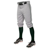 Easton Pro + Knicker Piped Baseball Pants - Men's - Grey / Dark Green