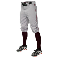 Easton Pro + Knicker Piped Baseball Pants - Men's - Grey / Maroon