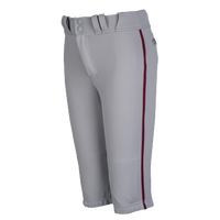 Easton Pro + Knicker Piped Baseball Pants - Boys' Grade School - Grey / Maroon