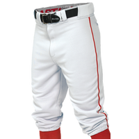 Easton Pro + Knicker Piped Baseball Pants - Boys' Grade School - White / Red