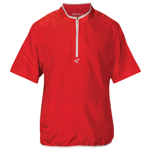 Easton M5 Short Sleeve Cage Jacket - Men's Baseball - Red/Silver 1676012