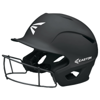 Easton Prowess Grip FP Batting Helmet with Mask - Women's - Black / Black