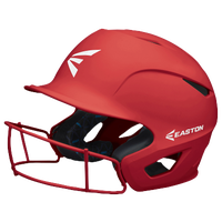 Easton Prowess Grip FP Batting Helmet with Mask - Women's - Red / Red