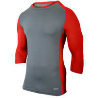 Eastbay Baseball Compression Top - Boys' Grade School - Grey / Red