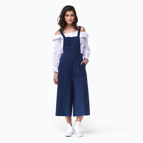 MinkPink Pinafore Culottes - Women's Casual - Navy 1703459