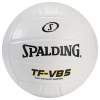 Spalding TF-VB5 Leather Volleyball - White / Black