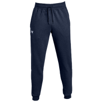 Under Armour Team Hustle Fleece Jogger Pants - Men's - Navy / White