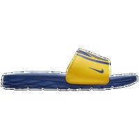 eb6106616 Nike Benassi Solarsoft NBA Slide - Men s - Golden State Warriors - Yellow    Blue