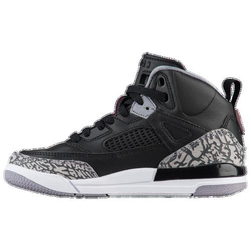 Jordan Spizike - Boys' Preschool - Basketball - Shoes - Black/Varsity  Red/Cement Grey/White/Dark Grey