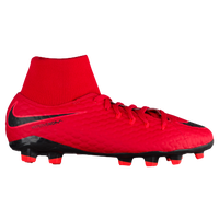 Nike Hypervenom Phelon III Dynamic Fit FG - Boys' Grade School - Red / Black