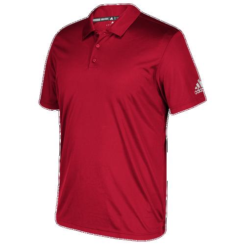 adidas Team Grind Polo - Men's Baseball - Power Red 1827656