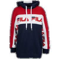 c134964efff Fila Rita Oversize Hoodie - Women's - Navy / Red