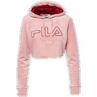 bc4292eea49 Fila Velour Crop Hoodie - Women's - Pink