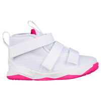 Nike LeBron Soldier XI - Boys' Toddler -  Lebron James - White / Pink