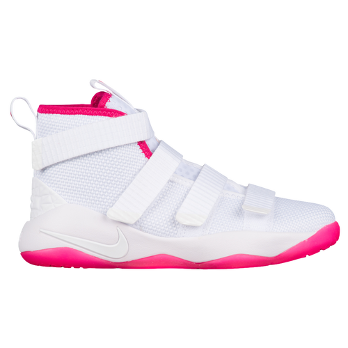 4924696a774 ... new style nike lebron soldier xi boys preschool basketball shoes lebron  james white white vivid pink