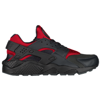 nike huarache red black and grey