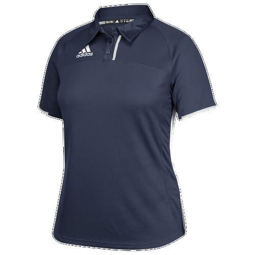 adidas Team Utility Polo - Women's Basketball - Collegiate Navy/White 1848COW