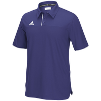 adidas Team Utility Polo - Men's - Purple / White
