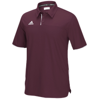 adidas Team Utility Polo - Men's - Maroon / White