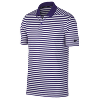 Nike Dri-Fit Victory Stripe Golf Polo - Men's - Purple / White