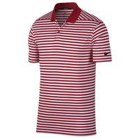 Nike Dri-Fit Victory Stripe Golf Polo - Men's - Red / White