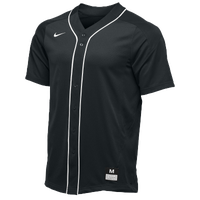 Nike Team Vapor Full Button Dinger Jersey - Men's - Black / White