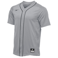 Nike Team Vapor Full Button Dinger Jersey - Men's - Grey / Black