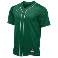 Nike Team Vapor Full Button Dinger Jersey - Men's - Dark Green / White
