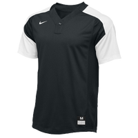 Nike Team Vapor 1 Button Laser Jersey - Boys' Grade School - Black / White