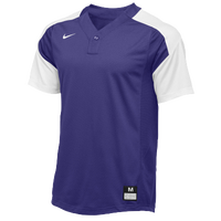 Nike Team Vapor 1 Button Laser Jersey - Boys' Grade School - Purple / White