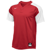 Nike Team Vapor 1 Button Laser Jersey - Boys' Grade School - Red / White