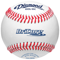 Diamond Dri-Core Practice Baseball - White / Red