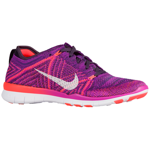 Nike Free TR 5 Flyknit - Women's TRAINING SHOES - Hyper Violet/White/Total Crimson/Purple Dynasty 18785502