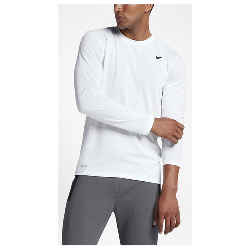 Nike legend 2 0 long sleeve t shirt men 39 s training for Mens long sleeve white t shirt