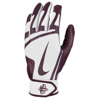 Nike Huarache Edge Batting Gloves - Men's - White / Maroon