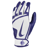 Nike Huarache Edge Batting Gloves - Men's - White / Purple